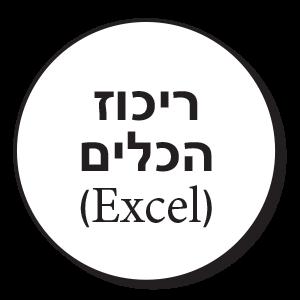 ריכוז הכלים (Excel)